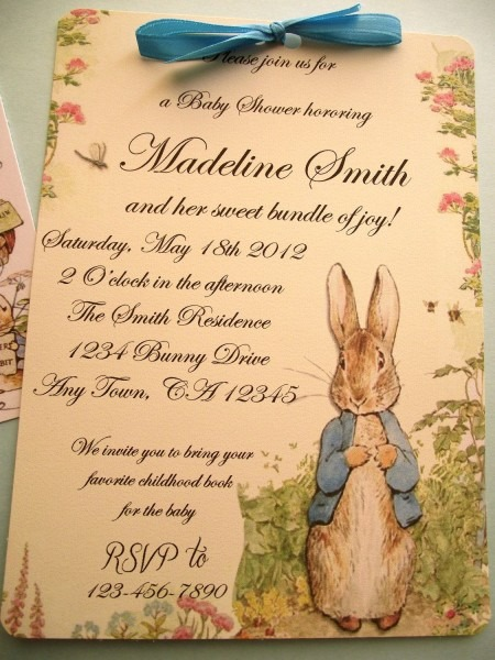 Peter Rabbit Vintage Style Baby Shower Or Birthday Party