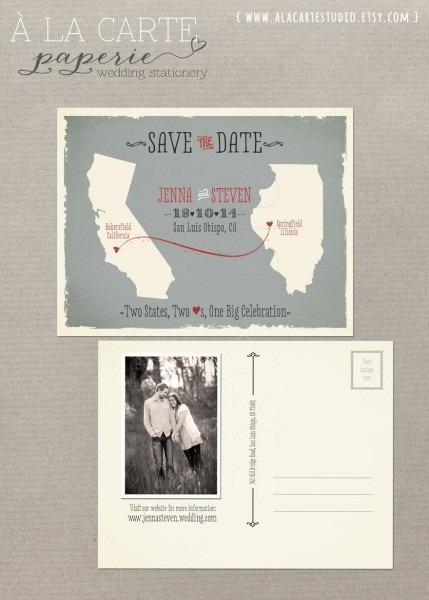 Destination Wedding Invitation Usa State Wedding Modern Save The