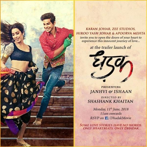 Karan Johar Invites Fans For Live Trailer Launch Of 'dhadak