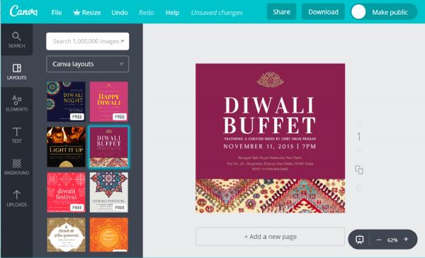 Design Custom Diwali Invitation Cards For Free