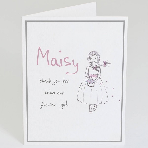 Diy Thank You Card Wording For Girl Friends With Maisy Girl Art