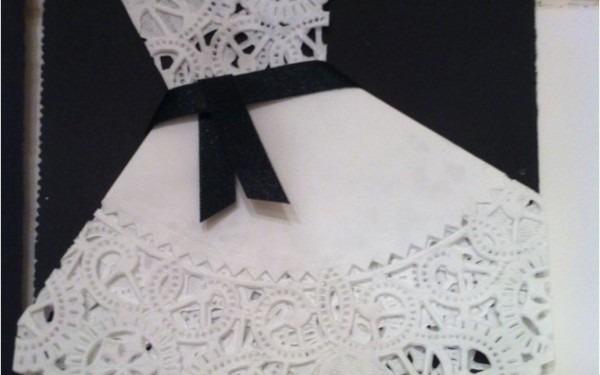 Doily Dress Bridal Shower Invitations Melaniekannokadacom