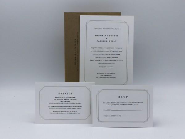 Double Frame Wedding Invitation Sample