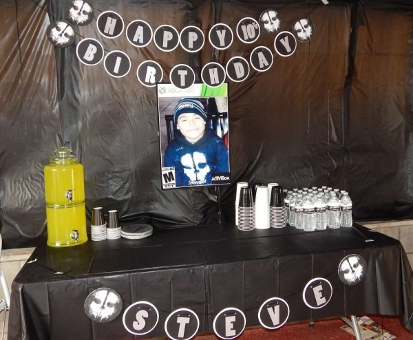 Call Of Duty Ghosts Birthday Party Ideas