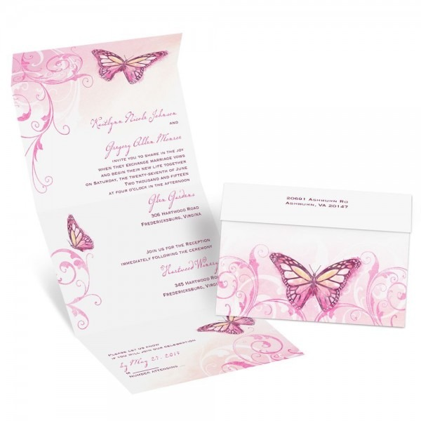 Beautiful Butterflies Seal And Send Invitation