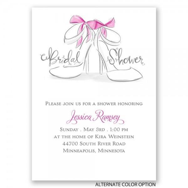 Wedding Shoes Mini Bridal Shower Invitation