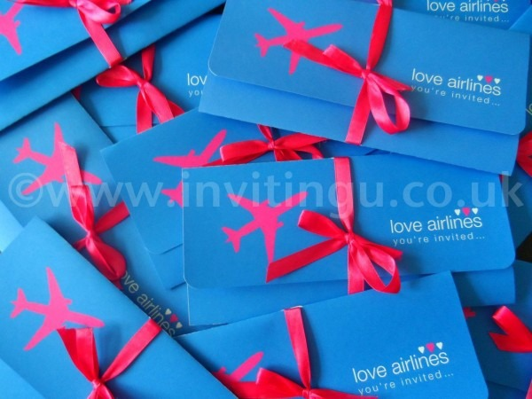 Royal Blue And Hot Pink Destination Wedding Invites ©www Invitingu