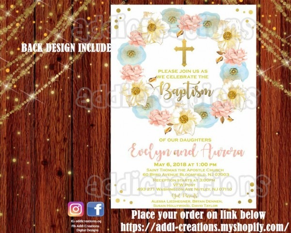 Baptim Invitations, Twin Baptism, Bautizo Gemelos, Sibling Baptism