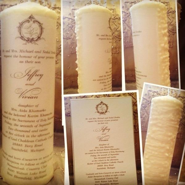 Candle Wedding Personalized Invitation Unity Keepsake Kandle