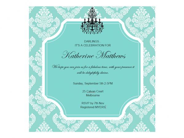 Editable Tiffany Baby Shower, Bridal Shower, Birthday Invitation