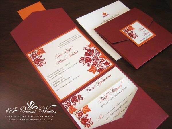 Elegant Fall Wedding Invitations Fall Wedding Invitations