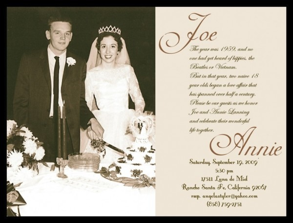 Elegant Wedding Anniversary Invitations 17 Best Images About 60th