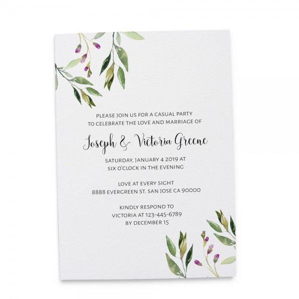 Elopement Reception Invitation Cards, Wedding Reception