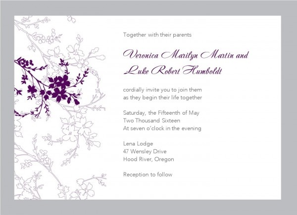 Wedding Invitation Email Template Free Download