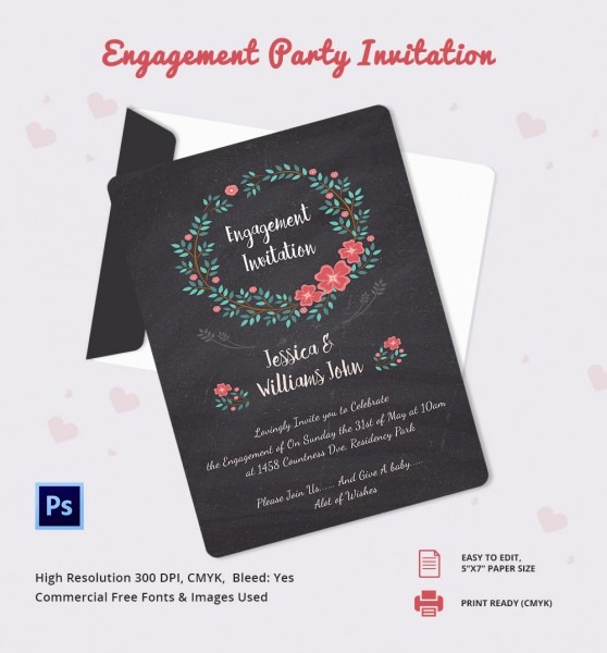 Awesome Engagement Invites Templates Free Gallery Entry Level