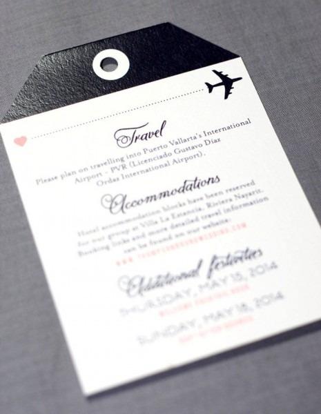 Boarding Pass Wedding Invitation, Destination Wedding Invitations