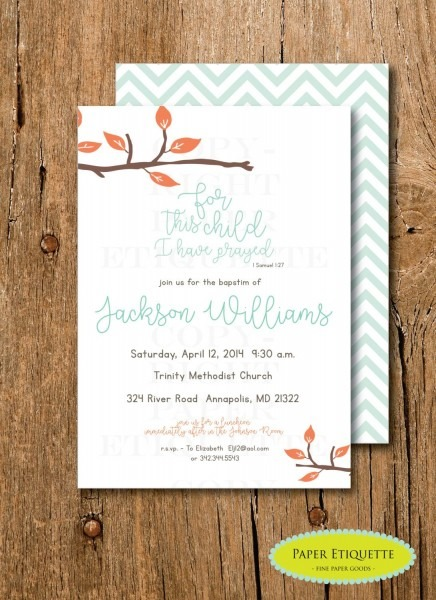 Religious Baptism Or Christening, Religious Baby Shower Invitation