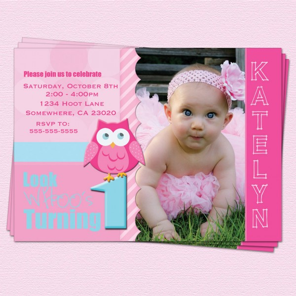 First Birthday Invitations Girl First Birthday Invitations Girl As