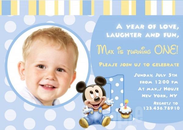 First Birthday Mickey Mouse Invitations — Birthday Invitation Examples