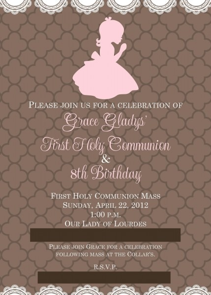 Buckets Of Grace  First Communion And 8th Birthday Party Prep