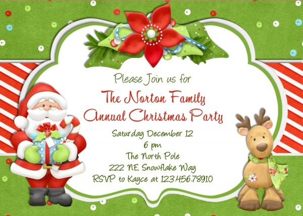 Free Christmas Invitation Templates Invitations