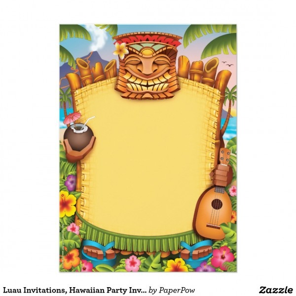 Free Luau Party Invitations