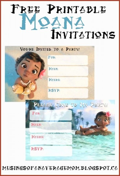 96+ Moana First Birthday Invitations