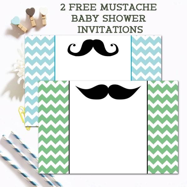 Free Mustache Baby Shower Invitations