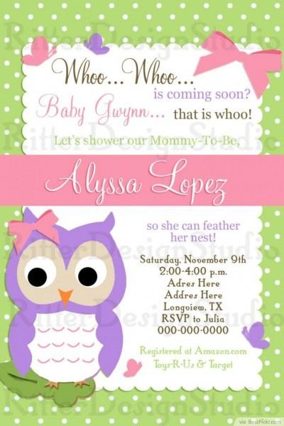 Free Printable Owl Baby Shower Invitations From Techflourish
