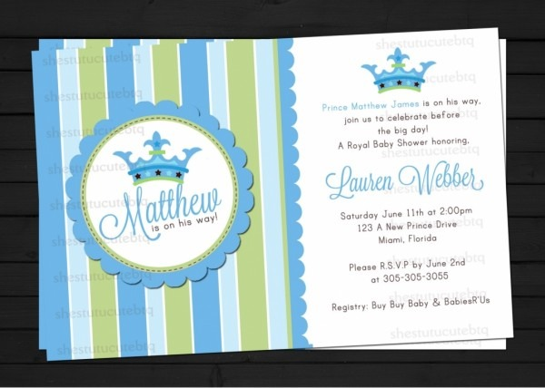 Free Royal Baby Shower Invitations Templates Ideas 48 Inch Corner
