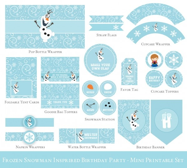29 Images Of Printable Olaf Invitations Template