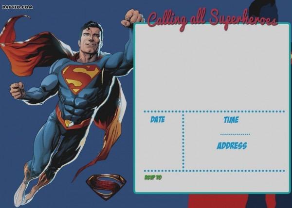 Justice League Invitation Card Template
