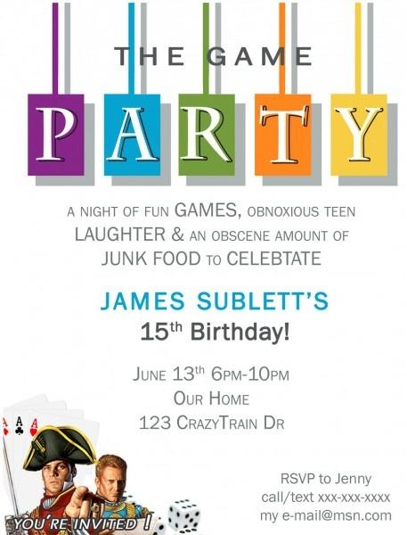 Free Game Night Printable Invite