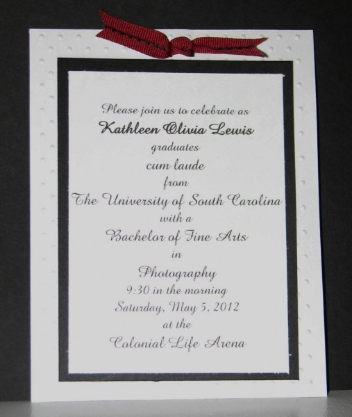 Graduation Invitation Letter For Visa From University