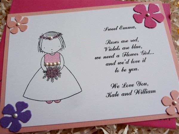Handmade Cute And Funny Flowers Bridesmaid Invitation From Bride