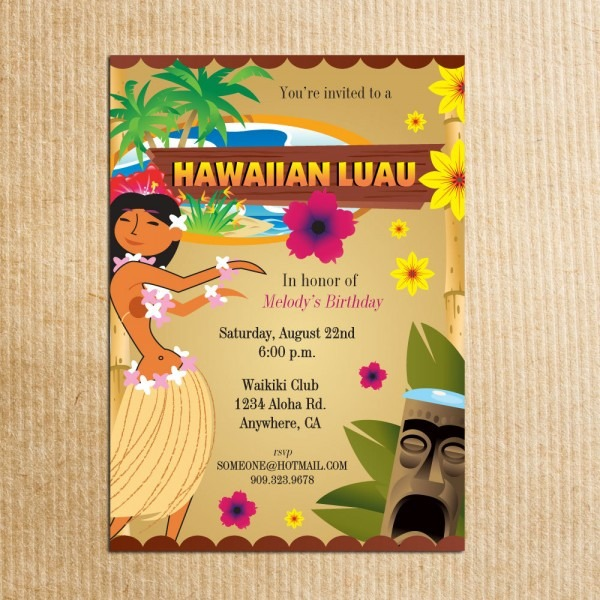 Hawaiian Party Invitations Hawaiian Party Invitations Landscaping