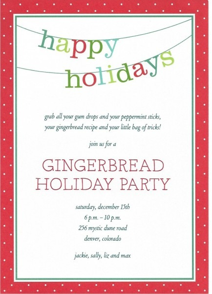 Template  Holiday Invitation Template