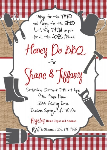 Honey Do Bbq Invitation Printable Digital And 50 Similar Items