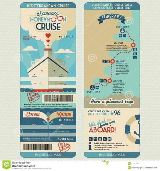 Cruise Boarding Pass Stock Illustrations – 344 Cruise Boarding