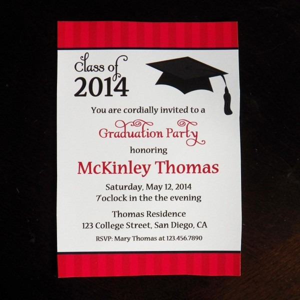 Humorous Graduation Party Invitation Wording Joint Samples Formal