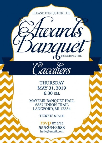 Sports Banquet Invitation Printable Choose Your Colors