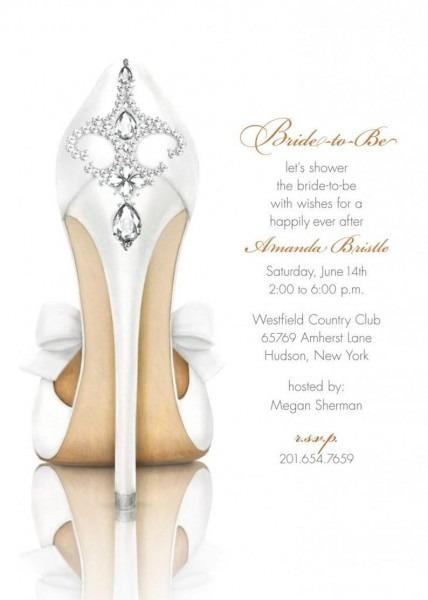 Bridal Shower Invitation Shoe Invitation Bridal Shower
