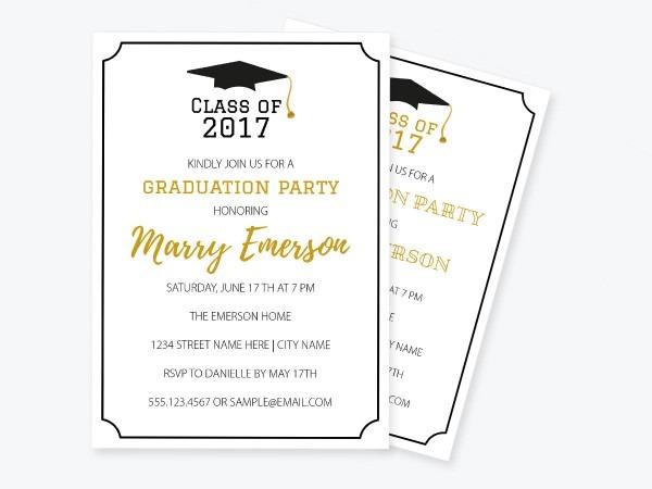 Graduation Invitation Pdf Template Class Of Printable