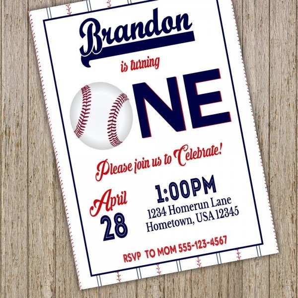 Baseball Invitation Baseball Birthday Invitation Baseball