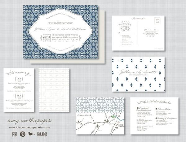 Ikat Wedding Invitations
