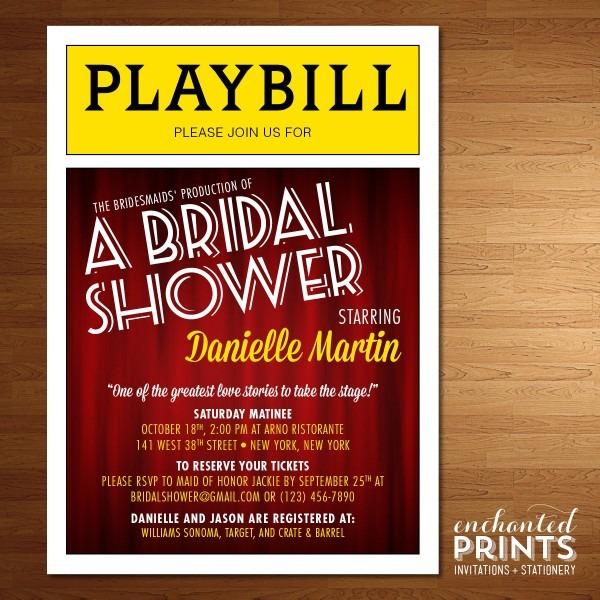 Broadway Playbill Invitations Broadway Show Theater Nyc