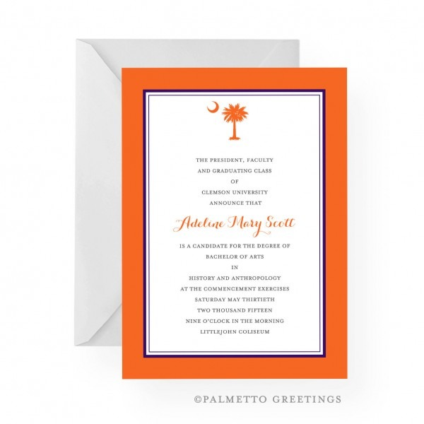 South Carolina Palmetto Moon Clemson Tigers Inspired