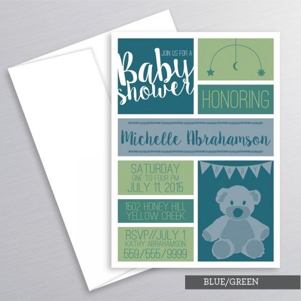 Teddy Bear Baby Shower Invitation Teddy Bear Shower Baby