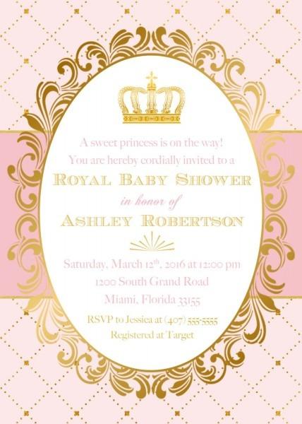 Princess Baby Shower Invitation, Royal Baby Shower Invitation
