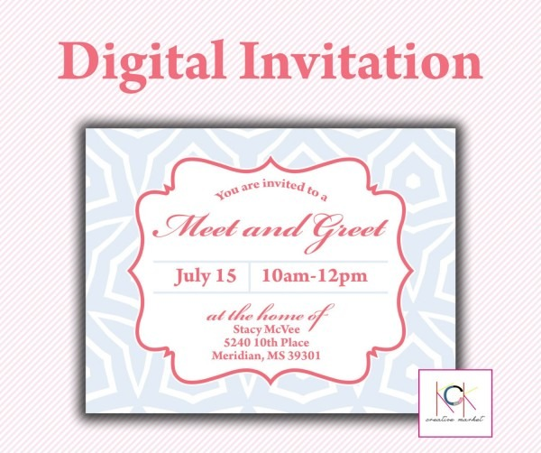 Customized Meet And Greet Reception Luncheon Save The Date